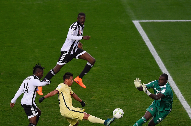 Yaw Frimpong and Daniel Nii Adjei in action as TP Mazembe progress to Confed. Cup Group stage