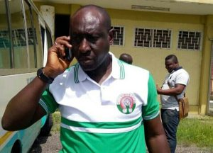 Techiman City coach Yussif Abubakar challenges angry fans to a fight