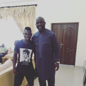 Christian Atsu meets legend George Weah