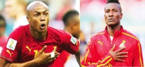 Asamoah Gyan, Andre Ayew vie for Sports Writers Personality of the Year award