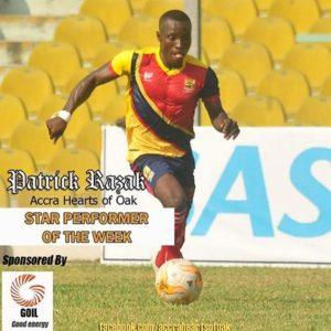 Hearts New-kid Patrick Razak voted star performer in Dreams FC win