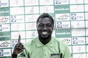 Goalkeeper Philemon McCarthy scores in Dreams FC 2-0 win over New Edubiase