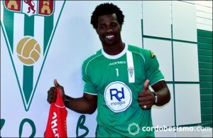 Watch Video of how Razak Brimah celebrated Cordoba's La Liga Play-Off Berth