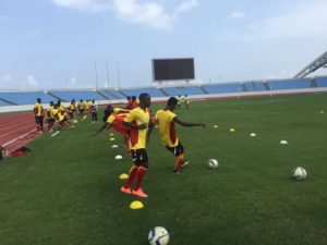 Photos: Black Satellites last training session ahead of 2nd leg AYC qualifier with Ethiopia