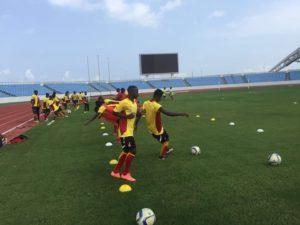 Photos: Black Satellites last training session ahead of 2nd leg AYC qualifier with Ethiopia