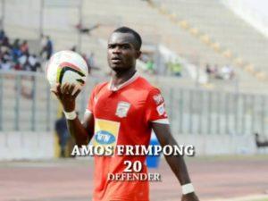 Amos Frimpong receives Kotoko player of the month award