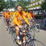 Photos: Muniru Sulley rides bike with Steaua Bucuresti teammates in pre-season