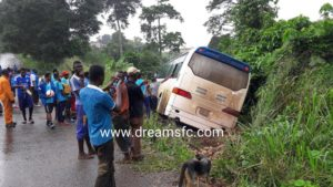 Berekum Chelsea involved in a minor accident before Dreams game in Dawu