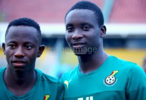 PICTURES: Debutants Yaw Yeboah and Dauda Mohammed Train's With 11 Other Black Star Players