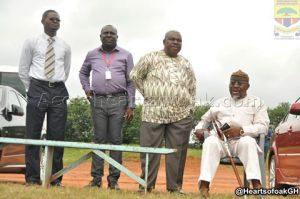 Accra Hearts of Oak board members visit team at training at Legon