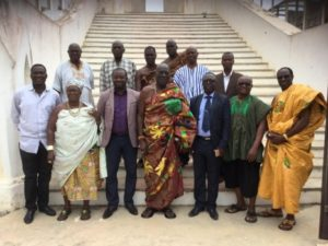 FA Cup Committee Visits Oguaa Omanhene