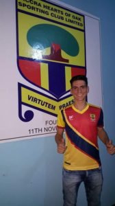 Hearts of Oak confirm Brazilian defender Vinicius Lozano came for trials