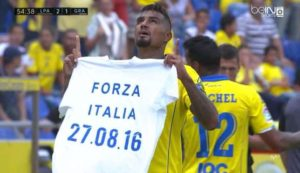 KP Boateng fined for displaying shirt during match