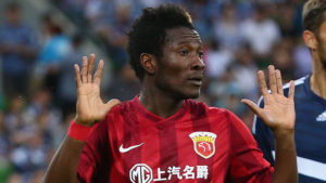 Asamoah Gyan flies into UK with loan deal to English club close
