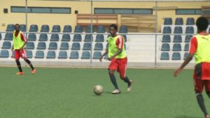 Photos: WAFA's Majeed Ashimeru begins training after undergoing a knee surgery