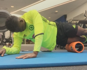 Out of favour Chelsea player Christian Atsu continues gym work to stay fit