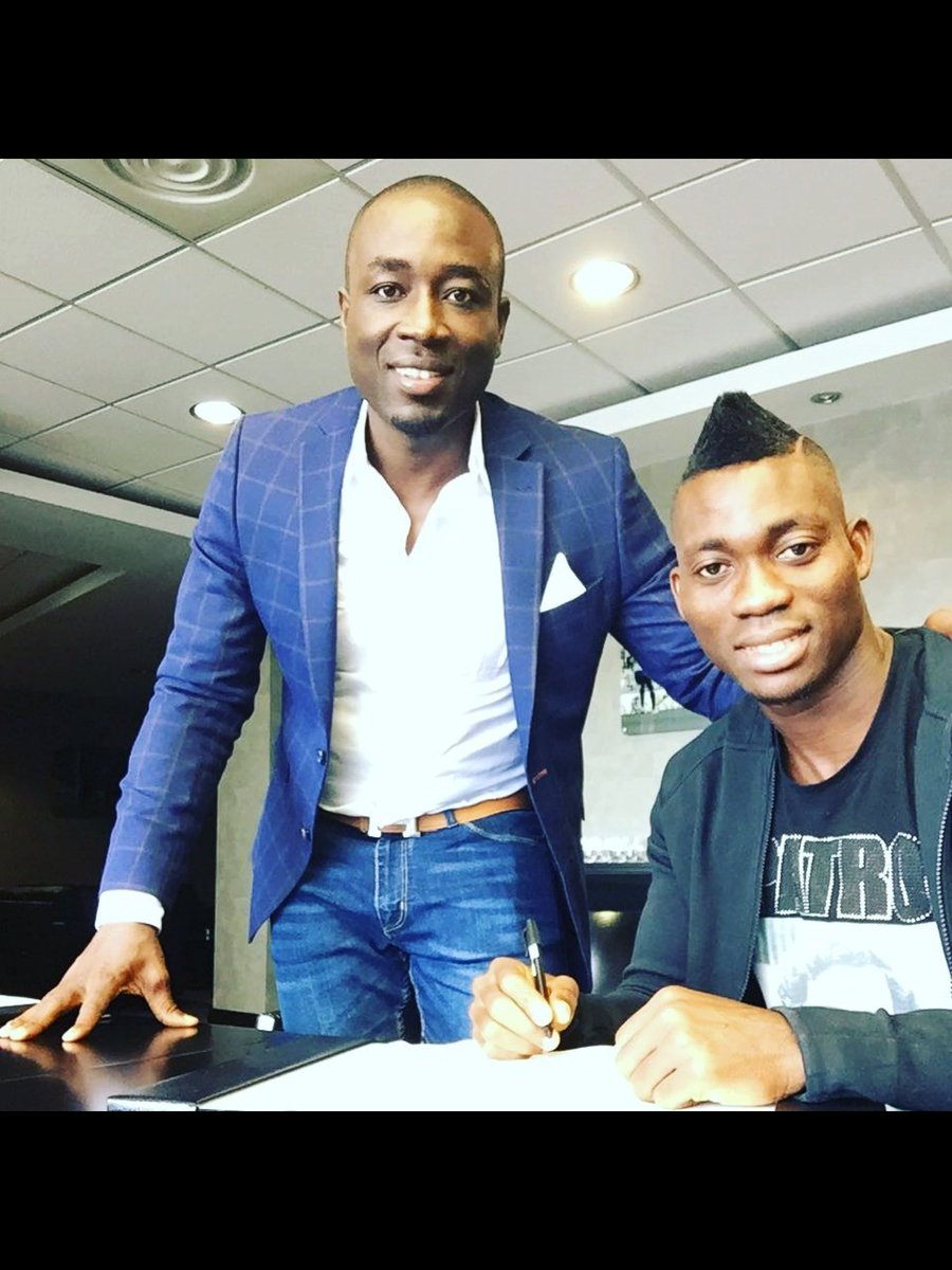 Jon Benjamin congratulates Christian Atsu on Newcastle move