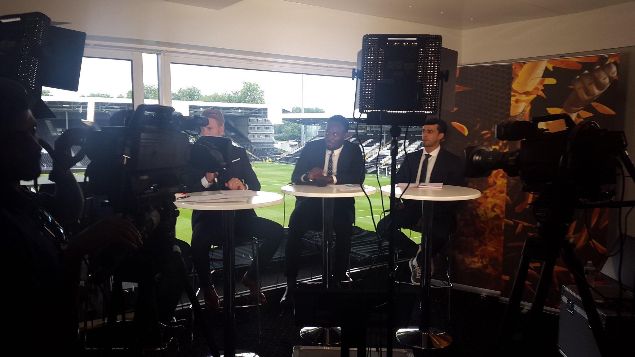 Michael Essien begins punditry work with Saudi-based MBC Sports in London