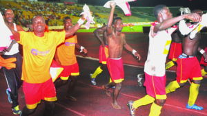 Okwawu United players received GHC 2,000 for qualifying for MTN FA Cup final