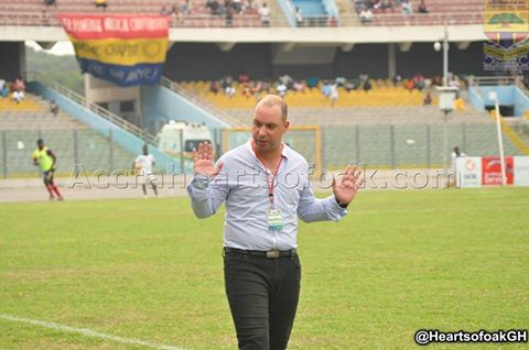 Hearts coach begs fans to come to the stadium