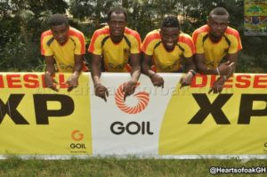 Hearts of Oak fix GOIL branded panels at training ground