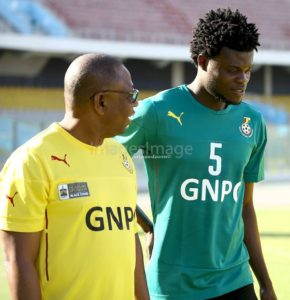 Black stars midfielder Thomas Partey poised for action against Rwanda