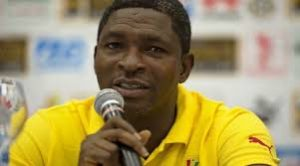 Maxwell Konadu yells for support ahead of Uganda clash