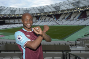 West Ham reveals Andre Ayew could make an early return in October