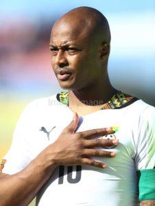 Injured Andre Ayew impressed with performance of Black Stars against Rwanda