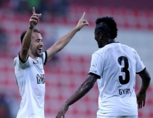 Asamoah Gyan in line to win first silverware with new club Al Ahli today
