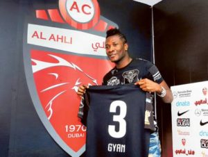 Gyan to make debut against his former club Al Ain on Wednesday
