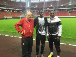 PHOTOS: Crocked Ghana midfielder Rabiu Mohammed visits Black Stars in Moscow