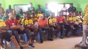 Photos: Black Stars pay courtesy call on Tamale Chief
