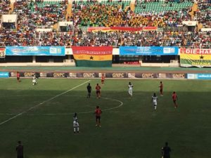 Supporters paid to witness Black stars training session