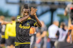 Harrison Afful scores in Columbus 3-0 thrashing of Accam's Chicago Fire