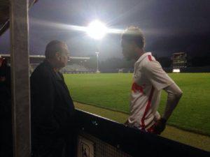 Photos: Ghana Coach Avram Grant visits Samuel Tetteh in Austria