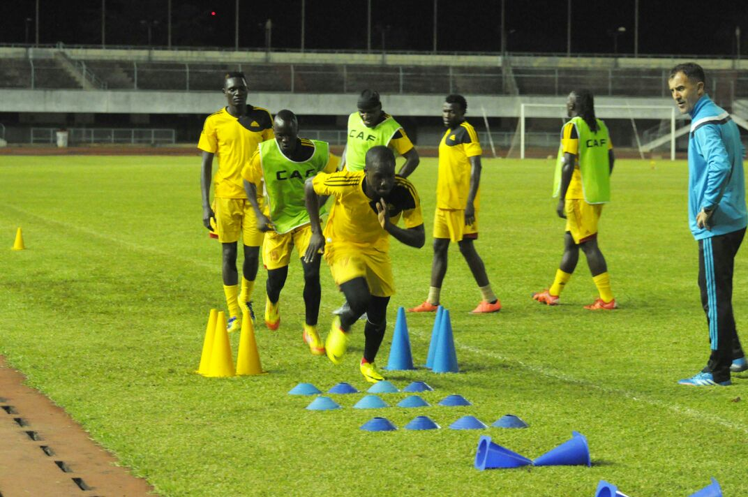 Photos: Cranes intensify training ahead of Black Stars clash