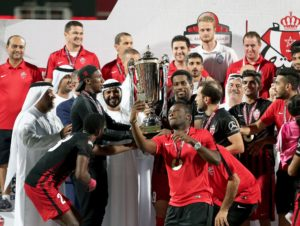 VIDEO: Asamoah Gyan scores to secure friendly Cup trophy for Al Ahli