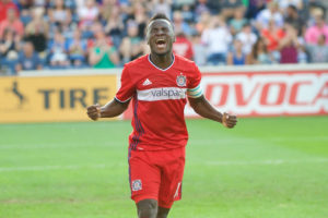 David Accam's strike for Fire eliminates Revolution from playoff contention