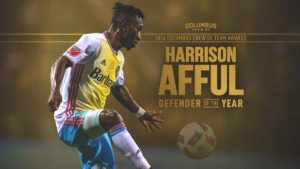 Harrison Afful wins Columbus Crew Defender of the Year award
