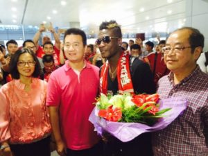 Could Asamoah Gyan return to China after Andre Villas-Boas is appointed SIPG coach?