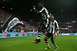 Christian Atsu scores against Cardiff to give Newcastle 6-point lead in the Championship