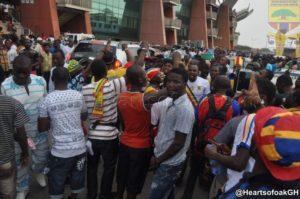 VIDEO: Hearts of Oak fans storm Baba Yara sports Stadium