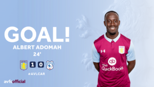 VIDEO: Aston Villa owner Tony Xia shows delight at Albert Adomah's performance in Villa's 3-1 win over Cardiff