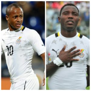Ghana to miss out on Andre Ayew and Kwadwo Asamoah for Egypt duel