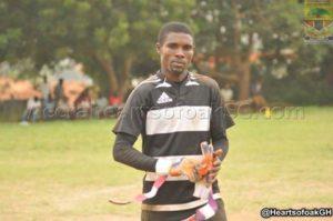New Hearts goalie Ben Mensah starts training with club