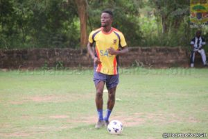 Hearts of Oak's hitman Cosmos Dauda returns to full scale training