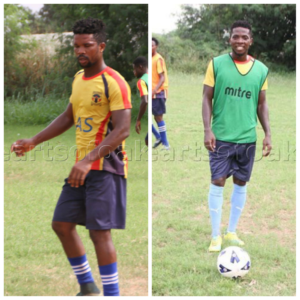Gnagne and Yamoah join Hearts full training