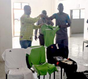 Groupe Nduom donates kit to Elmina Sharks