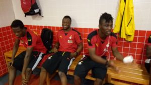 PICTURES: Ghana players arrive at Sevens Stadium in Dubai ahead of Bunyodkor friendly